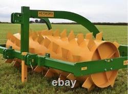 Grassland aerator 8ft Mounted 30, Tractor, Cultivator, Roller, soil drainage