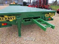 HERBST Bale Trailer 32ft Heavy Duty, 19T Gross New In Stock in Herbst Red