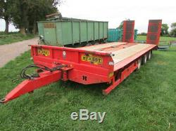 HERBST Lowloader 26ft Tri-Axle Heavy Duty Plant Trailer, 33 tonne gross, 26.5 to