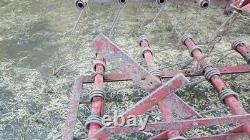 Harrow scuffle tine weeder 10ft wide adjustable heavy duty 7mm tines 3 point