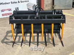 Heavy Duty 1.2m 4ft Skidsteer Bobcat Muck Dung Grab £895 + VAT