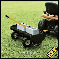 Heavy Duty 48 Tow Behind Plug Aerator ATV UTV Tractor Garden Lawn Sweeper