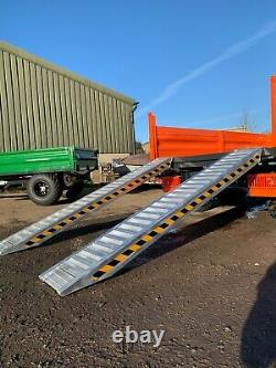 Heavy Duty 6 Ton Trailer Ramps (PAIR) from Jacksta Plant Tractor Digger UK STOCK