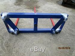 Heavy Duty Bale Spike Carrier Euro 8 Brackets 1 x 980mm Spike 2x 820mm Spikes