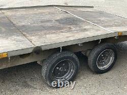 Heavy Duty Beavertail Flat Bed Transporter Trailer Car, Van, Plant, Tractor