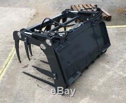 Heavy Duty Bobcat Skidsteer Muck Grab Fork Compact Tractor from £795 + VAT