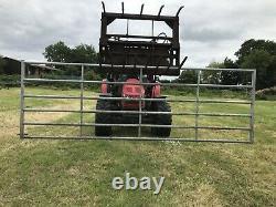 Heavy Duty Galvanised Metal Field Farm Equestrian Entrance Security Gate 12x3.75