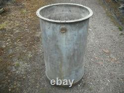 Heavy Duty Galvanized Water Butt / Planter. (Cylinder For Stationary Engine.)