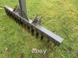 Heavy Duty Landscaping Grader Rake Compact Tractor Three Point Linkage 6ft