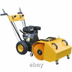 Heavy Duty Snow Plough/Sweeper Set with Petrol-powered Plough Blade 6.5 HP 196cc