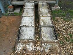 Heavy Duty Steel And Aluminium Chequer Plate Loading Ramps Tractor Digger