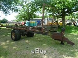 Heavy duty bale trailer / farm trailer chassis. 18' long, twin wheel. £350+VAT