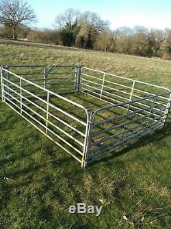 Heavy duty galvanised sheep hurdles