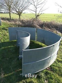 Heavy duty galvanised sheeted curved sheep panels