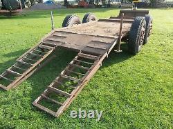Heavy duty low loader plant trailer