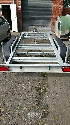 Heavy duty plant trailer new old stock flatbed generator compressor braked