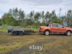 Heavy duty twin axle farm plant trailer