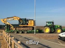 Herbst Low Loader Tri Axle Heavy Duty Plant Trailer 33 Tonne Gross
