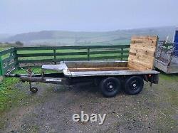 Ifor Williams 8x4 ft Heavy Duty 2500kg Plant Mini Digger Trailer. GP84GTA. GWO