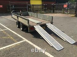 Ifor Williams Lm125ghd Flat Bed Trailer Heavy Duty 3500kg Ramps