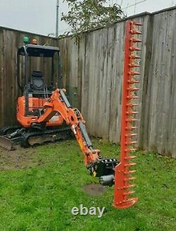 Kubota Digger Hedge Cutter, Hydraulic Finger Bar, Large 1.8m, Heavy Duty, NO VAT