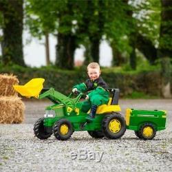 Large Kids Tractor Farmer Trailer Loader Children Ride On Heavy Duty Truck Gift