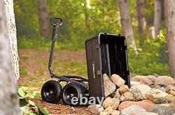 Lawn Tractor Dump Cart Garden Wagons Lawn Mower Utility Wheelbarrow Trailer