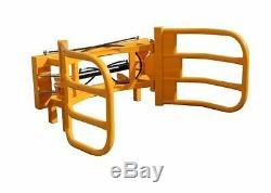 NEW 2017 HEAVY DUTY ROUND BALE GRAB, GRIPPER, HANDLER, tractor Euro 8 brackets