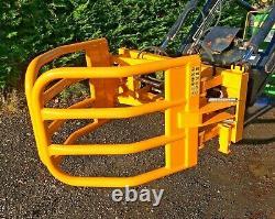 NEW 2021 HEAVY DUTY ROUND BALE HANDLER, GRAB, GRIPPER, tractor Euro 8 brackets