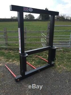 NEW Heavy Duty Telehandler Bale Spike for 3 x Big Bales Any Brackets JCB