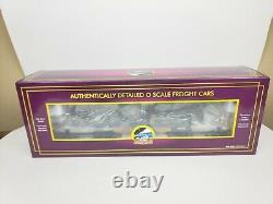 NEW MTH PREMIER 20-98378 47' TTX HEAVY DUTY FLAT CAR With 2 D8R MILITARY TRACTORS