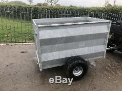 New Heavy Duty fully galvanised ATV livestock trailer mesh gate quad bike