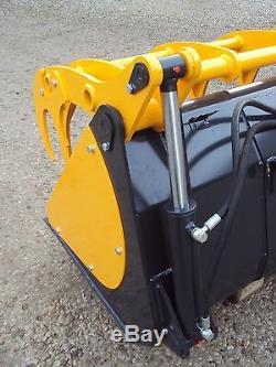 New Zagroda 2m heavy duty hydraulic rehandling bucket grab Refuse Timber etc JCB