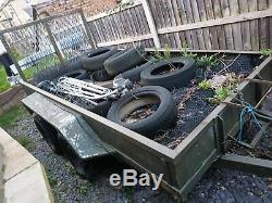PLANT TRAILER heavy duty 8 ft x 6 Twin axle, ramp, 2750 kg