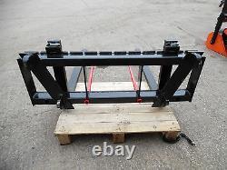 Pallet Forks 2 Tonne Tractor / Telehandler Loader N0 Tines Euro 8 Bracket