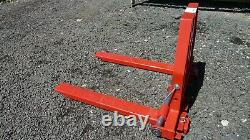 Pallet Forks Adjustable Width, 3 Point Linkage, Compact Tractors, Heavy Duty