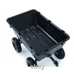 Poly Dump Wagon Cart Heavy-Duty Home Outdoor Garden Lawn Tractor Trailer 13Tire