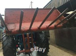 Rear Mounted Tractor Loader NO VAT & Muck Fork Cat1 & 2 Pins Lifts High Can Send