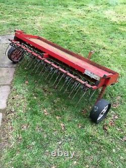 SCH 60 Four-Row Heavy Duty Towed Lawn Tractor Scarifying Rake
