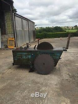 Saw bench heavy duty Kidd tractor pto driven fits on 3 point linkage runs ok