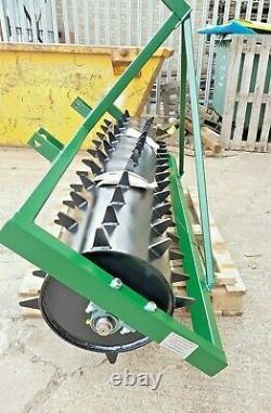 Seed Germination Spiked Harrow Farm Aerator Field Roller 3 Point Linkage 6 Ft