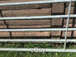 Seven Bar Galvanized Metal Farm Gate Heavy Duty