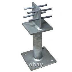 Simpson Strong-tie Pbh120 Heavy Duty Galvanised Post Base C/w Metal Dowels