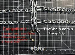 Snow Chains 26 X 12 X 12, 26 12 12 Heavy Duty Tractor Tire Chains Set of 2