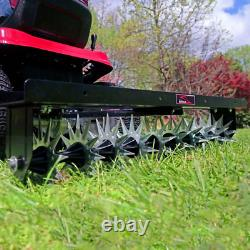 Spike Aerator Behind Double Tow Bar 40 in Heavy Duty Lawn Tractor 3D Steel Tines