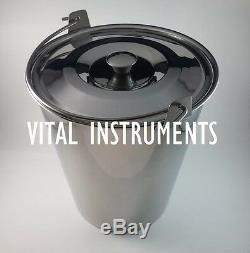 Stainless Steel Bucket Pail 16 Qt Dog Farm Water Milk Feeding Heavy Duty + Lid