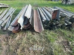 Steel Barn Frame, Dutch Barn/Heavy Duty Polytunnel approx 8.4m deep x 37m wide