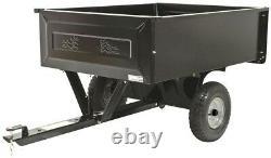 Steel Dump Cart Tractor Trailer Attachment Garden Yard Lawn Sheet Wall 10 cu ft