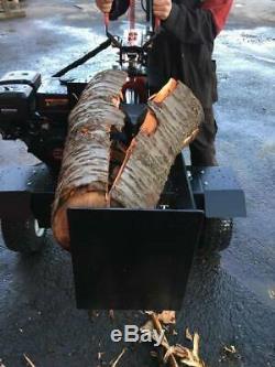 Super Heavy Duty 37 Ton Petrol Log Splitter Powerup Megga Splitter