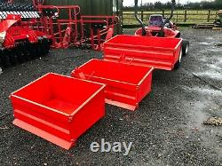TRANSPORT TIPPING BOX, 3 POINT LINKAGE, COMPACT TRACTORS, HEAVY DUTY 3 size